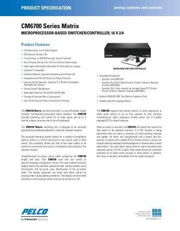 Pelco CM6700 Series Matrix