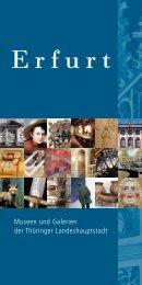 Erfurt - Museen und Galerien der Landeshauptstadt Erfurt