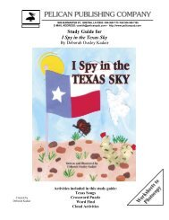 Study Guide for I Spy in the Texas Sky - Pelican Publishing Company
