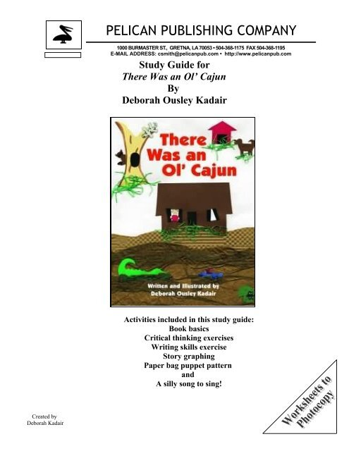 the There Was an Ol' Cajun study guide. - Pelican Publishing ...