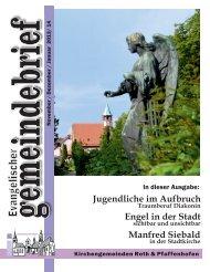 Evang. Kirchengemeinde Roth - Gemeindebrief Nov. 2013 - Jan. 2014
