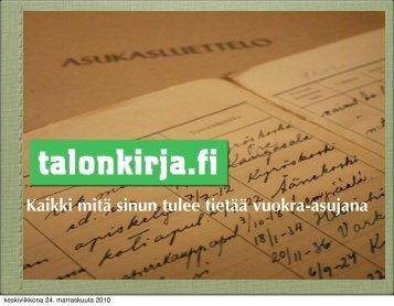 Talonkirja.fi (pdf) - Peloton