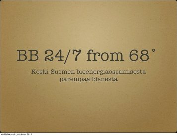 Bioenergiabisnestä (pdf) - Peloton