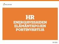 HR energiaviisaan elämän portinavaajana (pdf) - Peloton