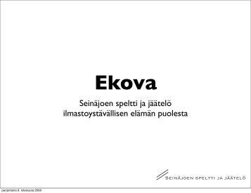 Ekova-ekovastaavien verkosto (pdf) - Peloton