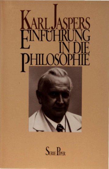Karl Jaspers: Einführung in die Philosophie - diana-wagner.com