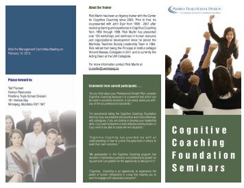 Cognitive Coaching - Pembina Trails School Division