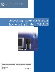 Accessing report cards from home using Student WHALE