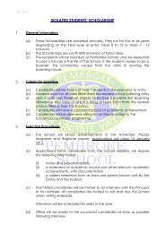 Application for Country Scholarship - Pembroke School