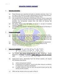 Isolated Students' Bursary Criteria and Application - Pembroke School