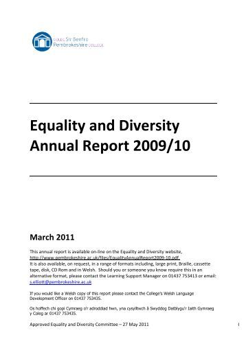 equality and diversity level 2 Equality and diversity are issues that are widely raised to avoid discrimination and ill-behaviors in your workplace if you are one of those who advocates this, then.