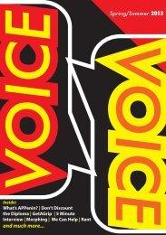 Student Magazine, Voice - Pembrokeshire College