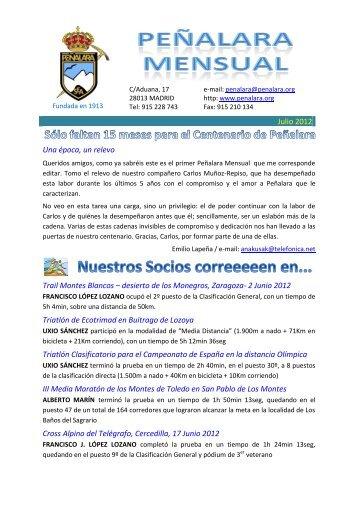 Julio 2012 Una época, un relevo Trail Montes ... - RSEA Peñalara