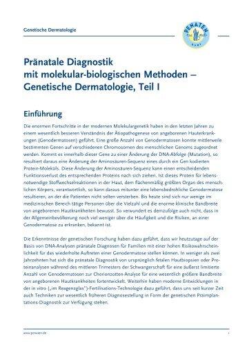 Pränatale Diagnostik mit molekular-biologischen Methoden ...