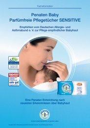 Penaten baby Parfümfreie Pflegetücher SenSitive