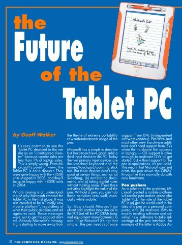PCM 053, 034-037 Pen future.qxd - Pen Computing Magazine