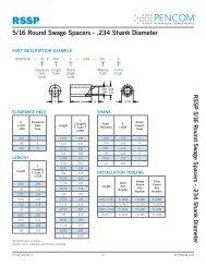 5/16 Round Swage Spacers - .234 Shank Diameter - Pencom