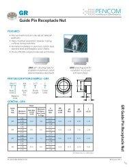 Guide Pin Receptacle Nut - Pencom