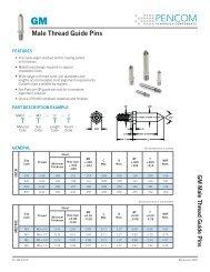Male Thread Guide Pins - Pencom