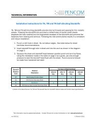 TK/TM/TN Standoff Installation Instructions - Pencom