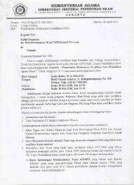 kementerian agama direktorat jenderal pendidikan islam - Pendis ...
