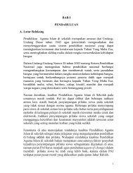 BAB I PENDAHULUAN A. Latar Belakang Pendidikan Agama Islam ...