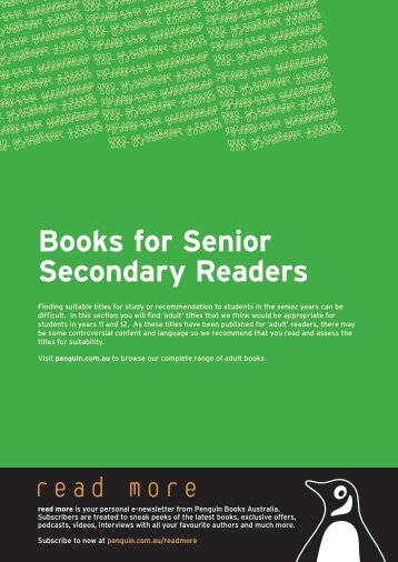Senior Secondary Readers - Penguin Books Australia
