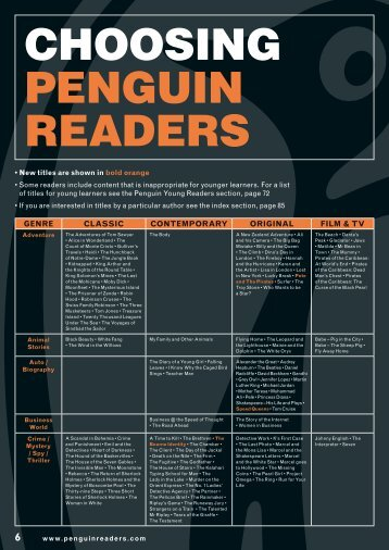 CHOOSING PENGUIN READERS