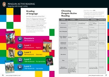 PENGUIN ACTIVE READING Grading of language Choosing ...