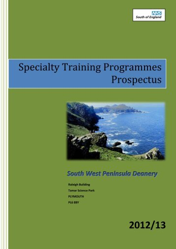 Specialty Training Programmes Prospectus 2012/13 - South West ...