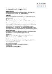 Inhaltsverzeichnis der Ausgabe 1/2012: