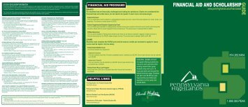Financial Aid Guide - Pennsylvania Highlands Community College