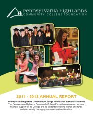 Annual Report 2012-2013 - Pennsylvania Highlands Community ...