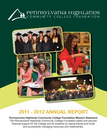 Annual Report 2012-2013 - Pennsylvania Highlands Community ...