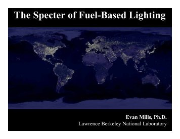 The Specter of Fuel-Based Lighting - Environmental Energy ...