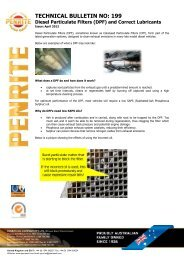Diesel Particulate Filters (DPFs) and Correct Lubricants - Penrite