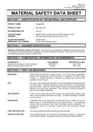 Material Safety Data Sheet - Penrite