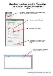 Overføre tekst og foto fra Photofiltre Til A5 kort i OpenOffice Draw