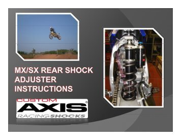 MX Rear Shock (Custom Axis) - Penske Racing Shocks