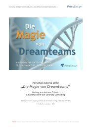 Die Magie von Dreamteams - Vortrag Personal ... - PentaDesign