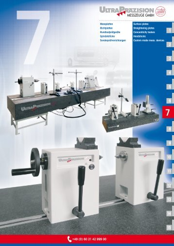 Surface plates Straightening plates Concentricity testers Headstocks ...
