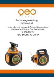 Bedienungsanleitung User manual FL 500HV-G FLG 500HV-G Green
