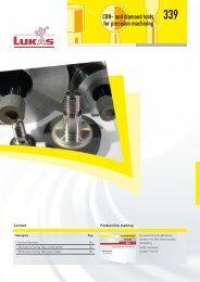 CBN- and diamond tools for precision machining - LUKAS-ERZETT