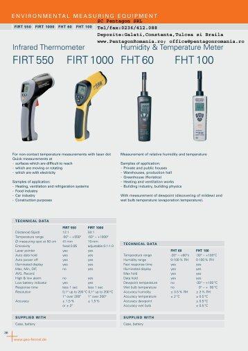 FIRT 550 FIRT 1000 FHT 60 FHT 100 - SC Pentagon SRL