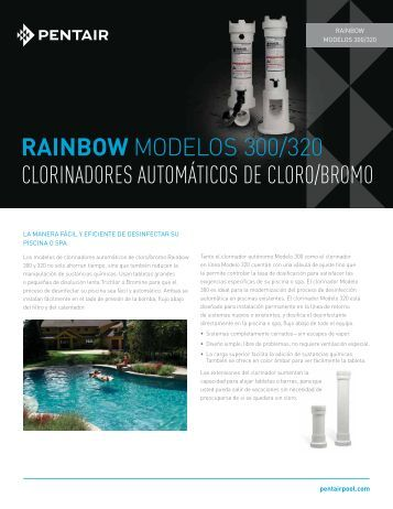 RAINBOW MODELOS 300/320 CLORINADORES ... - Pentair