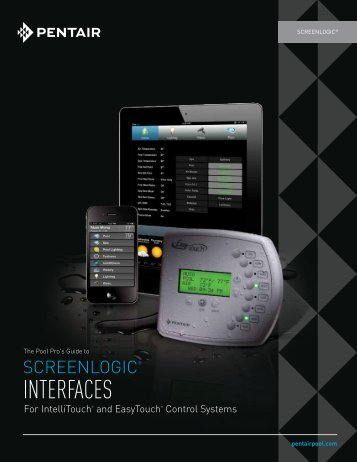 The Pool Pro's Guide to ScreenLogic Interfaces - Pentair