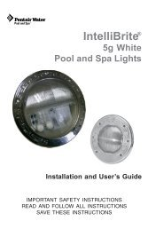 IntelliBrite 5g White Pool and Spa Lights - Pentair