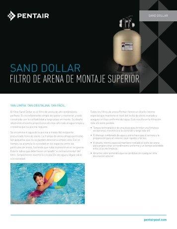 SAND DOLLAR FILTRO DE ARENA DE MONTAJE ... - Pentair