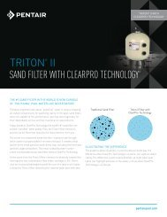 Triton II Sand Filter with ClearPro Technology - Pentair