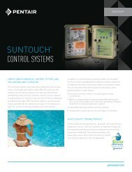 SUNTOUCH® CONTROL SYSTEMS - Pentair